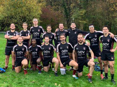 Mannschaftsbild der siegreichen RSV-Herren nach dem Sieg in Hürth.